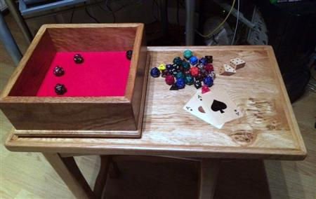 Dice box and games table